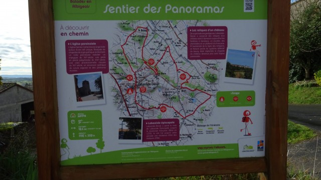Labastide Denat : sentier des panoramas