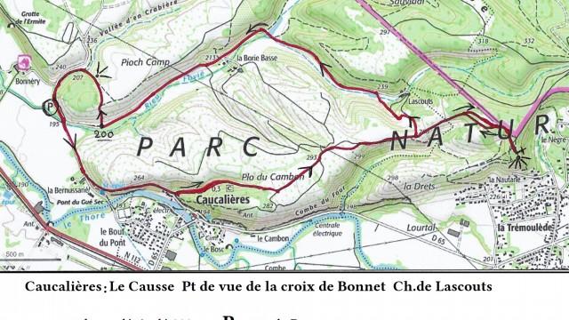 Causse de Caucalières, croix de Bonnet, Lascouts